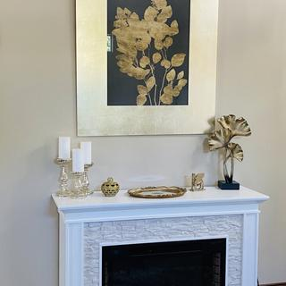 The wall art picture is amazing and classy.The leaves sculpture and the tray are perfect. Love them.
