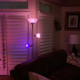 This lamp perfectly displays my new Philips HUE lights!