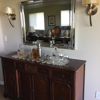 Perfect sconces to compliment our side board/bar area in great room.