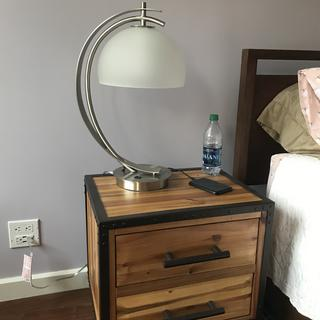Night stand, desk, side table. This lamp fits anywhere!