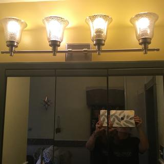 Master Bathroom Light above mirror and vanity.
