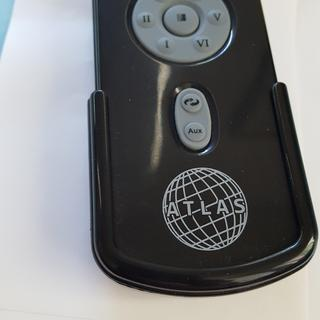 Remote in its holder