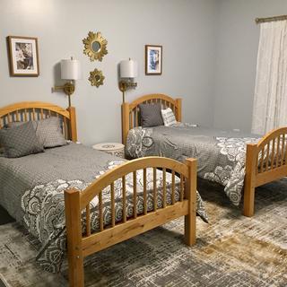 Guest basement bedroom wall light fixtures