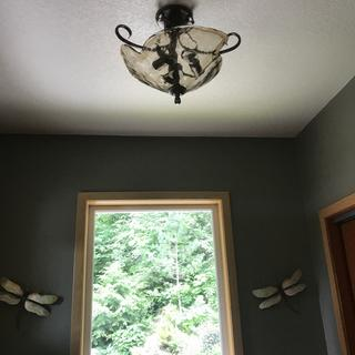 We love our new entryway light-just as described and unique.  Fairly easy to install.