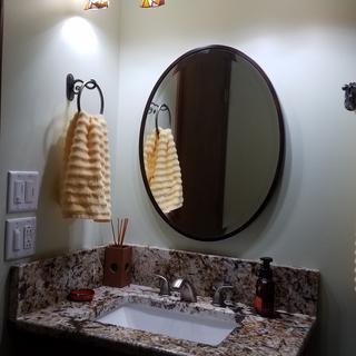 Beautiful light for over vanity in bathroom