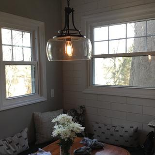 This light gets the most compliments of everything in our new kitchen!