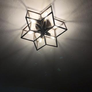 Love this light in our bedroom!