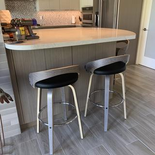 LOVE these stools. Exactly what I wanted & perfect match. Very comfortable.