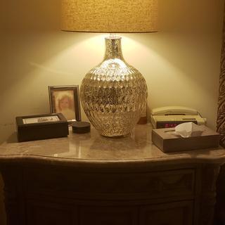 Waylon Mercury Glass Table Lamp 9v793 Lamps Plus
