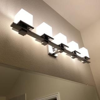 Makes our bathroom so much brighter!