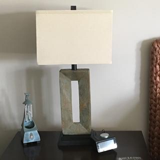 Tahoe Small Slate Table Lamp