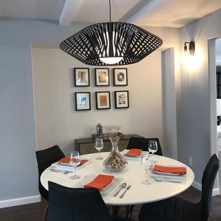 Mid century modern dinning room design