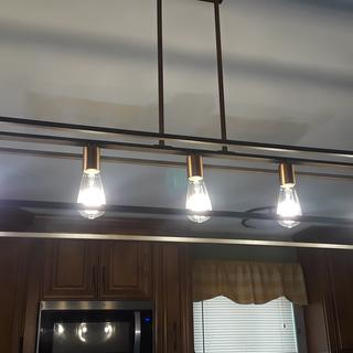 So pleased with this fixture! Great addition to our new kitchen!