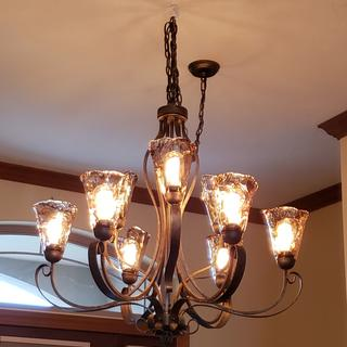 Beautiful with the classic Edison Styled light bulbs.