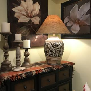 We Purchased 2 of these Brown Sand Handcrafted Table Lamps for our newly renovated Family Room