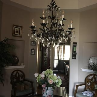 Entry crystal chandelier