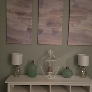 Accent lamps for an office console table
