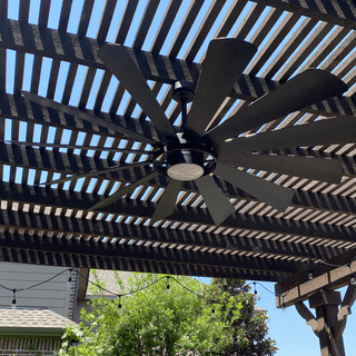 We totally love this outdoor ceiling fan