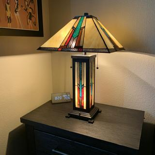 Love these lamps! Bulbs used are 2200K LED filament. Really adds to the retro look of the lamp.