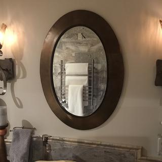 Nice accent to a metal framed mirror