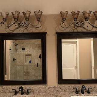 We love them they match with our faucets & add ambience to the room. So grateful i came across them