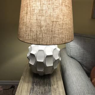 Short round lamp lit
