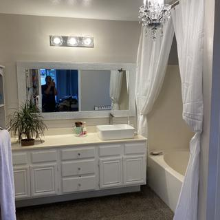 Brought elegance to my self-remodeled bathroom.