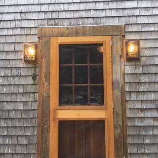Porch lights.