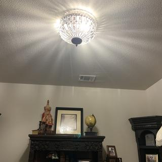 Flush mount to the ceiling