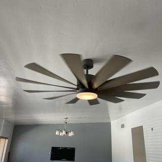 Fan installed in living room