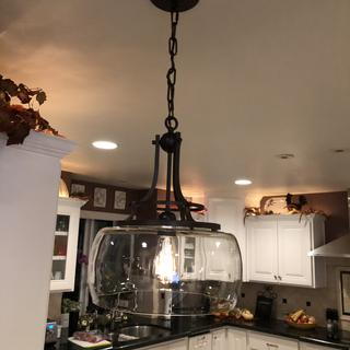 Love our new pendant lighting.