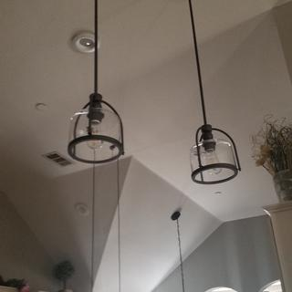 Love it.  I have 13 foot ceilings so I need an extra12in extension rod to drop the pendants lower