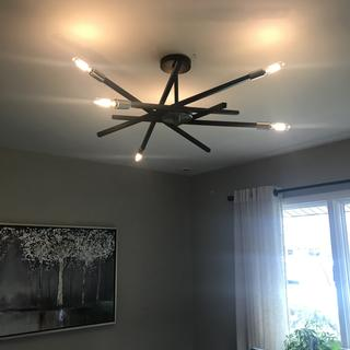 Easy to install, excellent quality, we are very happy with this light