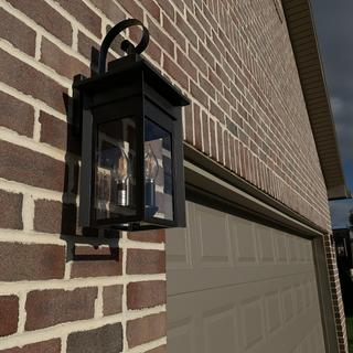 3-lamp style for either side of the garage door