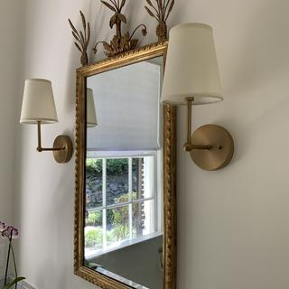 Two wall sconces for master bath renovation