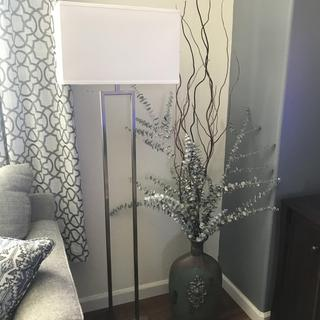 Absolutely love my new modern styled floor lamp.  It arrived promptly and was very easy to assemble.