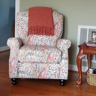 Love this chair ... beautiful print!!