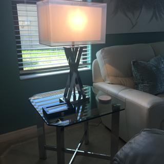 I love these lamps.  I get a lot of compliments when people see them .