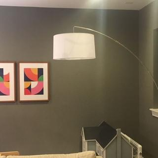 Notice how the angle / arc of my lamp pole differs from the angle / arc of the pole in the display.