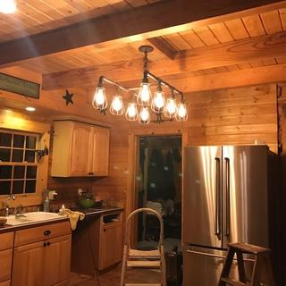We love it!  Kitchen remodel just starting!  This works great in our log home!