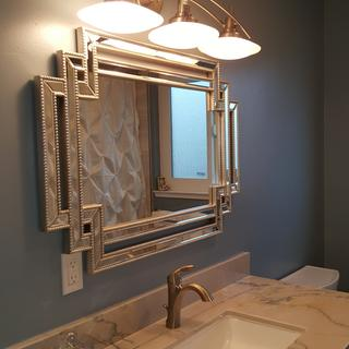 I love this mirror for my newly remodeled bathroom. Plenty of compliments on it. It's very chic.