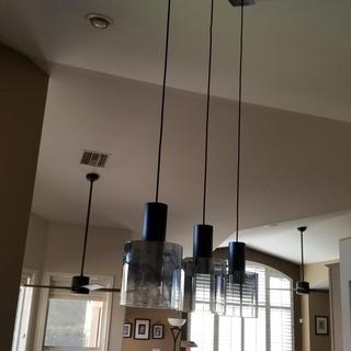 New kitchen island lights look great!