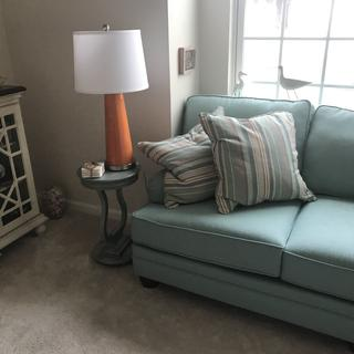 The lamps match my chair perfect and add balance to my room of orange and turquoise.