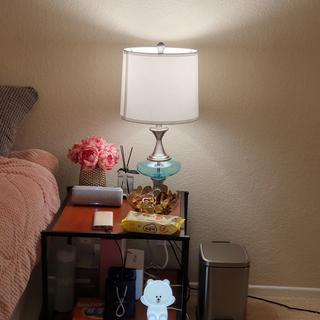 Absolutely beautiful! This Lamp goes along pretty well with my room. It was a great purchase.