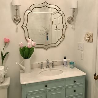 Here you see it above a 38-inch vanity.  We couldn't be more pleased!!!