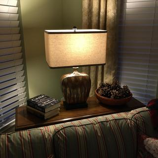 Great look for my sofa table!