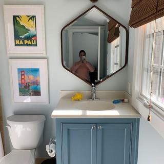 Looks great in my son's bathroom