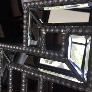 Sloppy, imperfect beading abounds ALL OVER the mirror frame!