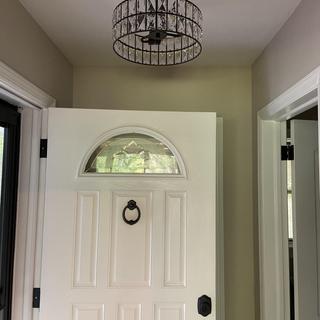 Beautiful entryway light