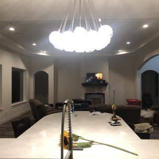 Functional and a nice ceilings center piece